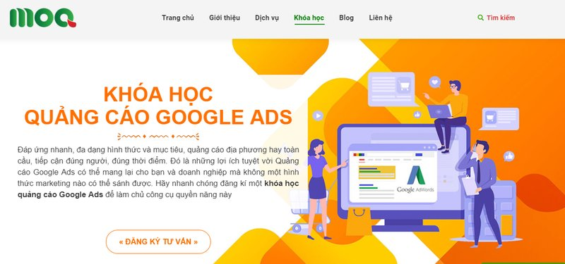 Học Google Adwords ở Moa