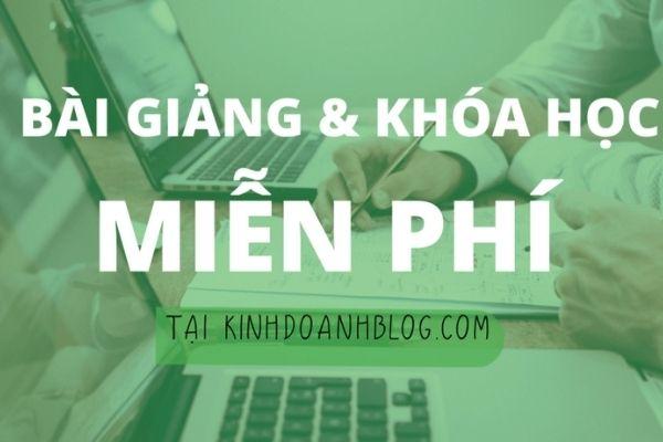 Khoá học bán hàng online tại Kinh doanh Blog