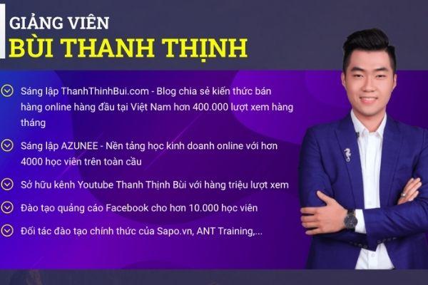 Khoá học bán hàng online với Thanh Thịnh Bùi