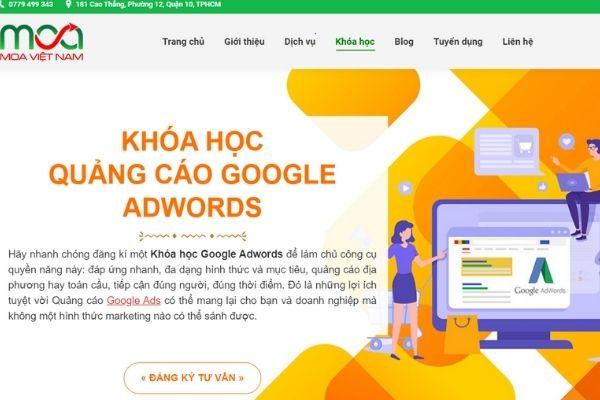 Khoá học quảng cáo Google tại MOA Việt Nam