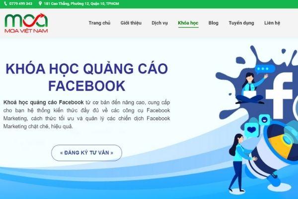 Khoá học quảng cáo facebook tại MOA Việt Nam